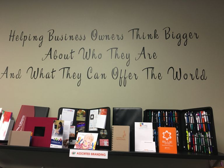 Minuteman Press franchise in Wappingers Falls, NY – Assorted Branding Display http://www.minutemanpressfranchise.com