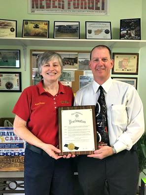 """Minuteman Press owners Diana and Jeff Merritt were honored to receive the proclamation that declared Feb. 8, 2016 """"Operation We Care Day"""" in the City of Salisbury, Maryland. http://www.minutemanpressfranchise.com"""