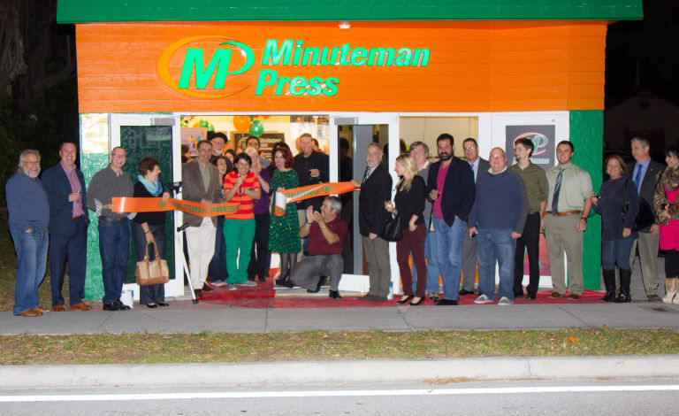Minuteman Press franchise in Fort Lauderdale, Florida – grand opening and ribbon-cutting. http://www.minutemanpressfranchise.com