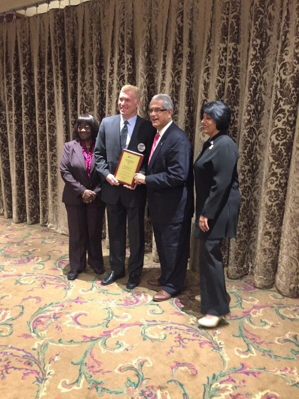 Honoree Michael Levy, 2nd from left, is shown with Town of Hempstead Supervisor Anthony J. Santino, 2nd from right, Town of Hempstead Town Clerk Nasrin G Ahmad, right, and senior Councilmember Dorothy L Goosby, far left. http://www.minutemanpressfranchise.com