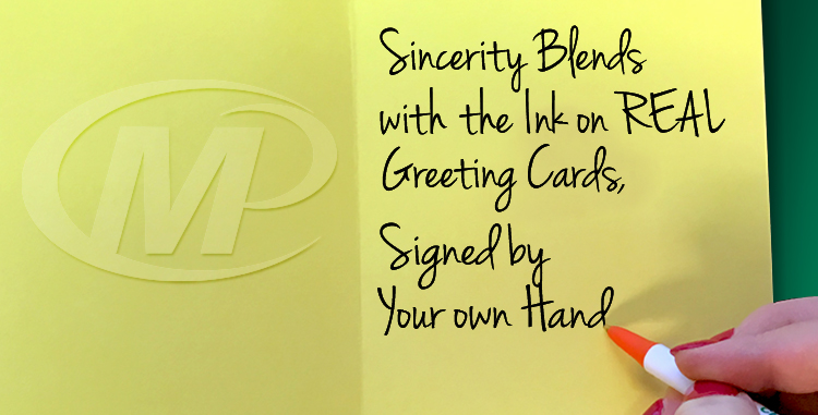 Minuteman Press Franchise Review: Sincerity Blends with the Ink on REAL Greeting Cards, Signed by Your Own Hand http://www.minutemanpressfranchise.com