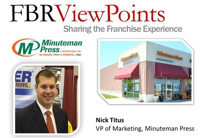 AUDIO: Minuteman Press International VP of Marketing Nick Titus Speaks with Franchise Business Review http://www.minutemanpressfranchise.com