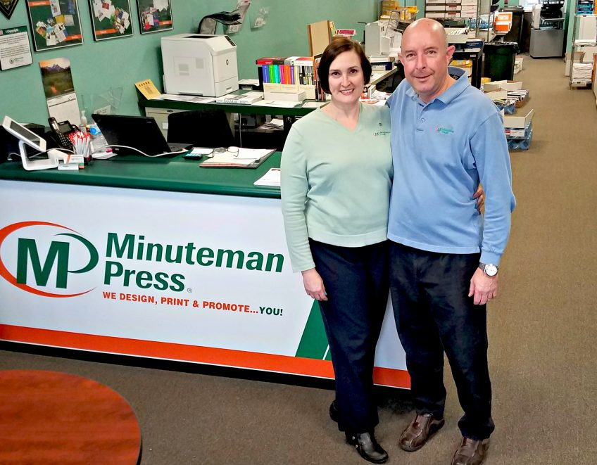 Lyn and Charlie Church own the Minuteman Press design, print, and marketing franchise at 359 N. Easton Road in Glenside, PA. http://www.minutemanpressfranchise.com