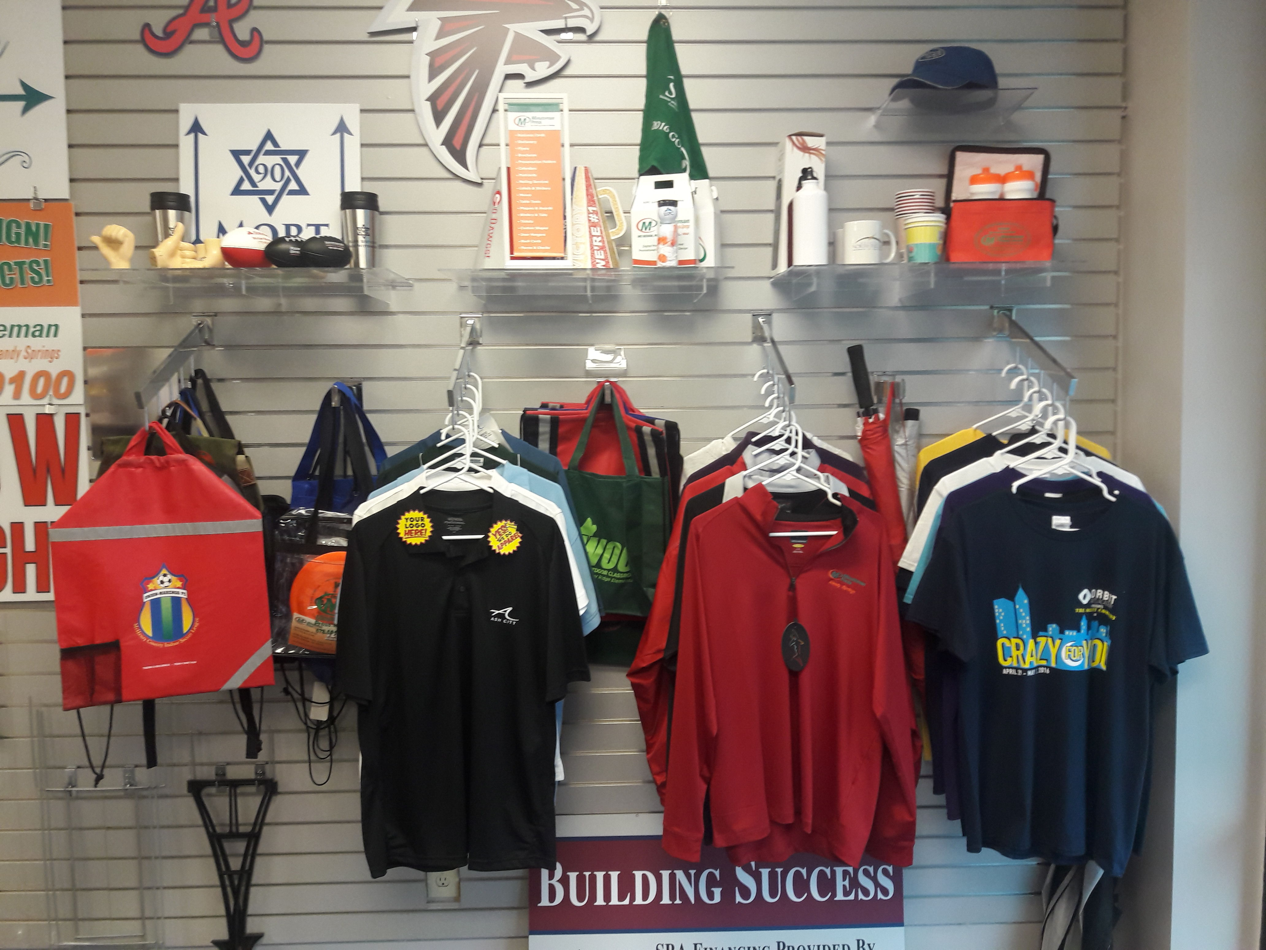 Minuteman Press, Sandy Springs, GA – Promotional Products Display http://www.minutemanpressfranchise.com