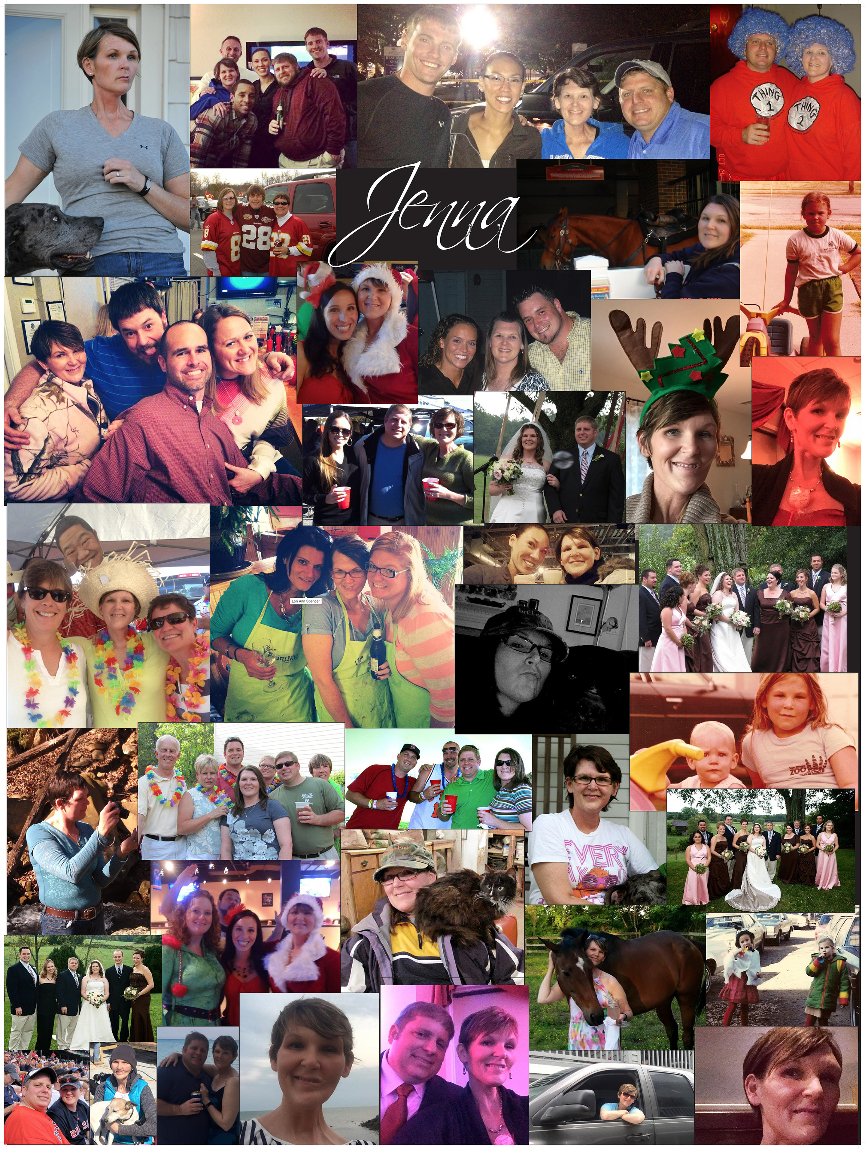 Bryan Agnello honors his late wife Jenna with this photo collage that is displayed at his Minuteman Press franchise in Virginia Beach, VA. http://www.minutemanpressfranchise.com