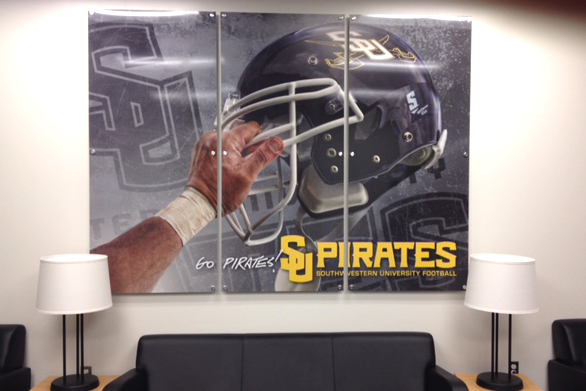 Minuteman Press printing franchise, Georgetown, Texas - SU Pirates Interior Wall Graphic. http://www.minutemanpressfranchise.com