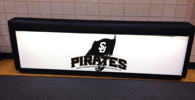 Minuteman Press printing-franchise, Georgetown, Texas - SU Pirates Light-up Box. http://www.minutemanpressfranchise.com