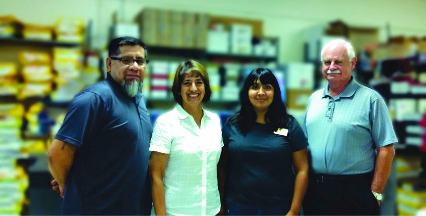 Meet the team of the Minuteman Press printing franchise in Long Beach, California - L-R: Robert Perez, Hilda Sanchez, Zulma Alejo, and Dave Rigby. http://www.minutemanpressfranchise.com