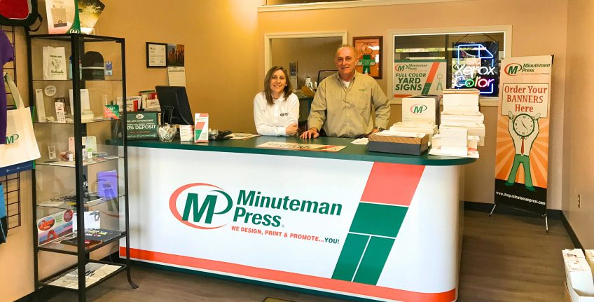 Kate Cusato and John Prinkey, Minuteman Press franchise owners, Frederick, Maryland. http://www.minutemanpressfranchise.com