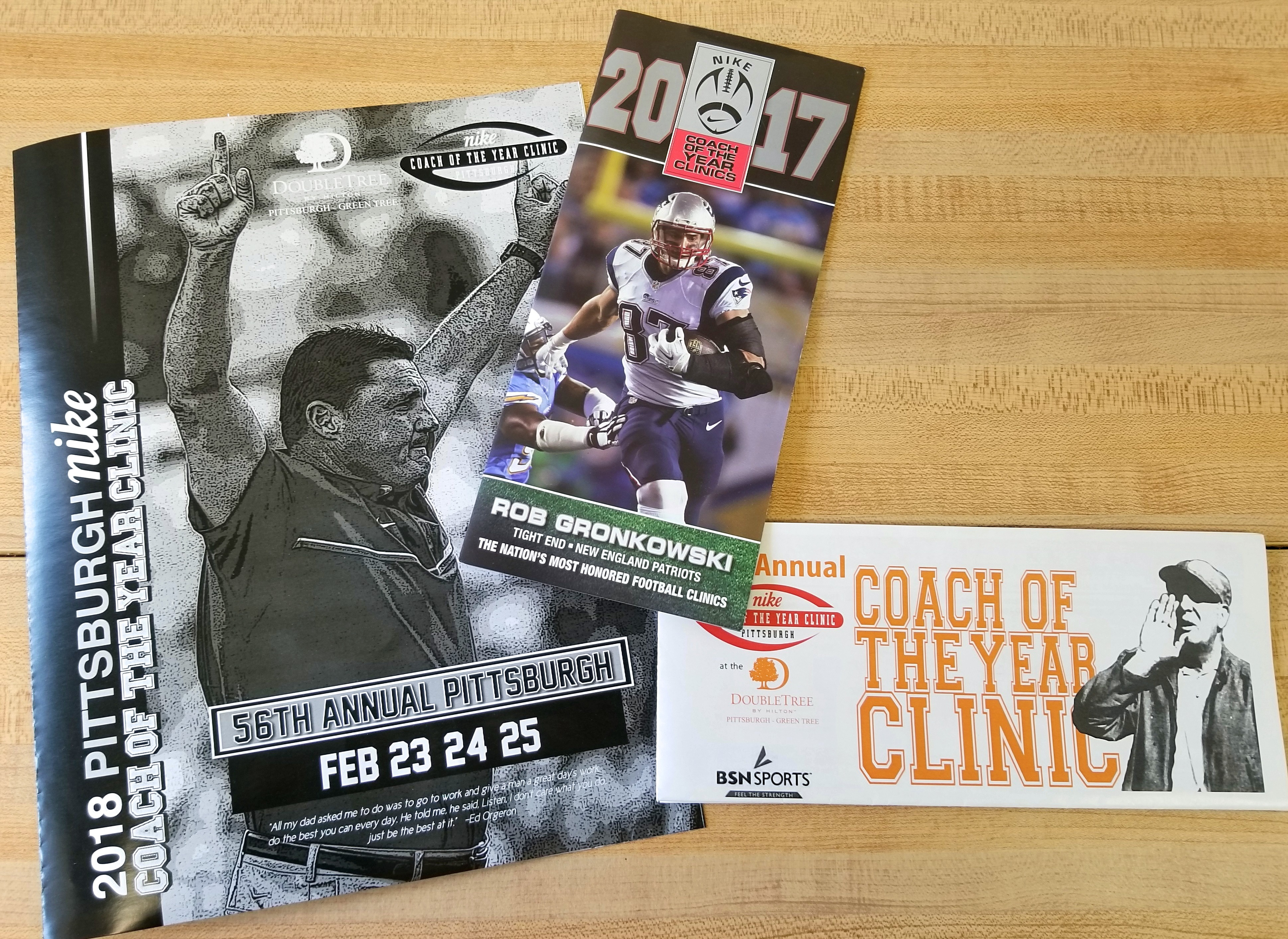 Product samples designed and printed by the Minuteman Press printing franchise in Cranberry Township, PA for the Nike Coach of the Year Clinic. http://www.minutemanpressfranchise.com