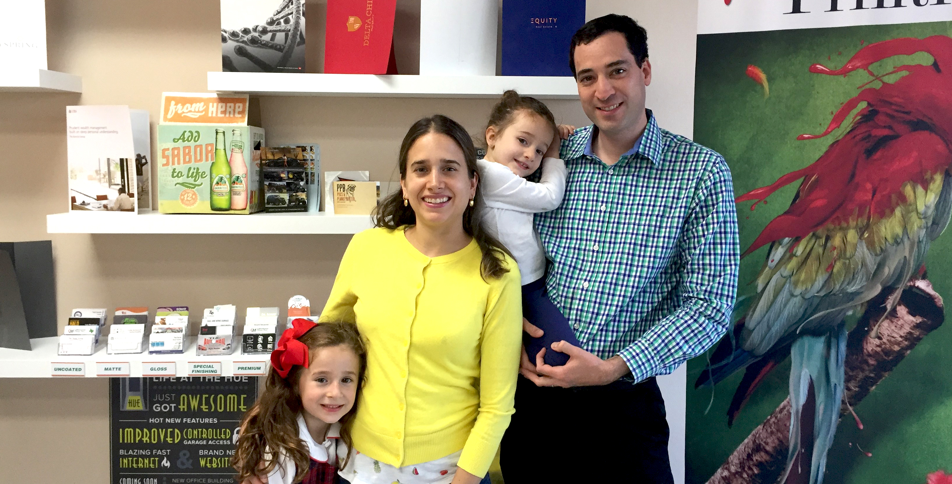 Meet the Leal Family, owners of the Minuteman Press design, marketing, and printing franchise in Plano, Texas - L-R: Victoria, Maggie, Natalia, and Gabriel Leal. http://www.minutemanpressfranchise.com
