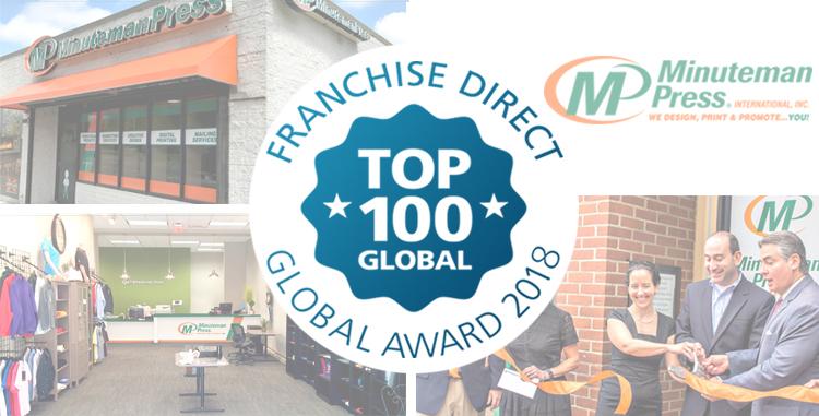 Minuteman Press International Climbs Franchise Direct 2018 Top 100 Global Franchises List http://www.minutemanpressfranchise.com