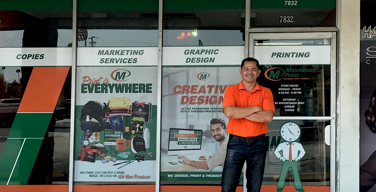 Manny Castro, Minuteman Press franchise owner, Downey, California. http://www.minutemanpressfranchise.com