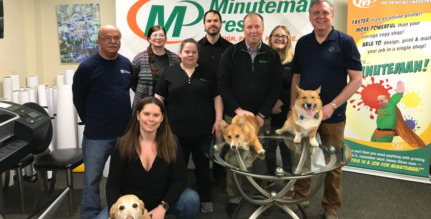 Pat Kittle (top right) and his dedicated team of professionals at Minuteman Press, North Conway, NH. http://www.minutemanpressfranchise.com