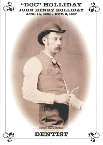 """The rare """"Doc"""" Holliday photo that made its way to Minuteman Press in Bakersfield, CA. http://www.minutemanpressfranchise.com"""