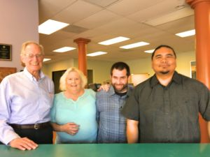 Meet the Team of Minuteman Press, Concord, CA – L-R: Will Hill, Cindy Call, Anthony Call, and Kyle Sanchez. http://www.minutemanpressfranchise.com