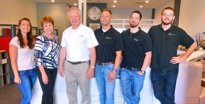 Meet the Team of Minuteman Press, Ashland, VA - L-R: Meaghan Deckard, Pat Berg, Mike Berg, Aaron Berg, Sean Woodard, and Aaron Swofford. http://www.minutemanpressfranchise.com