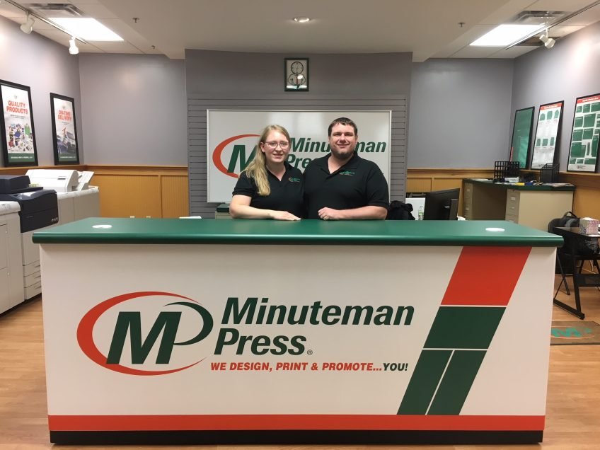 Meet Betsy and Dustin Tino, owners of the new Minuteman Press design, marketing, and printing franchise in Fairmont, Minnesota. http://www.minutemanpressfranchise.com