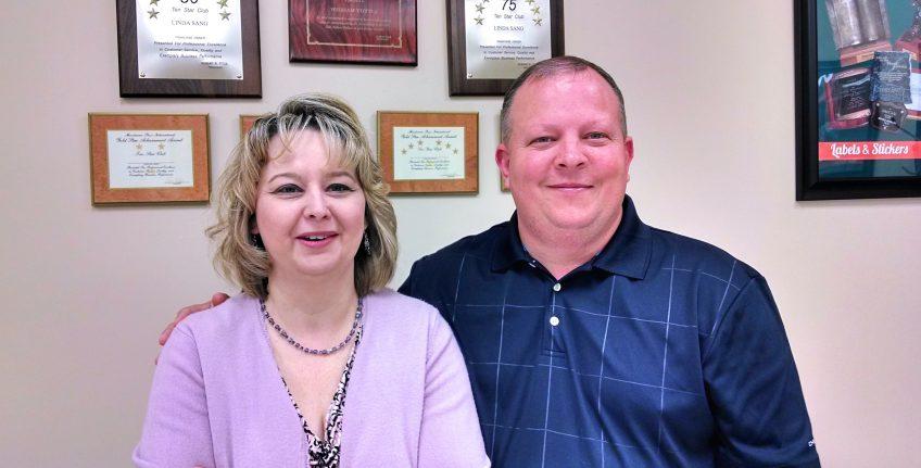 Christine and Derek Hueske, owners, Minuteman Press design, marketing, and printing franchise, Columbia Missouri. http://www.minutemanpressfranchise.com