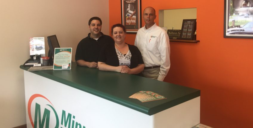Meet the team of Minuteman Press in Clifton Park, NY - from left to right: David Vumbaco, Kelly Denue, and David Fizer, franchise owner. http://www.minutemanpressfranchise.com