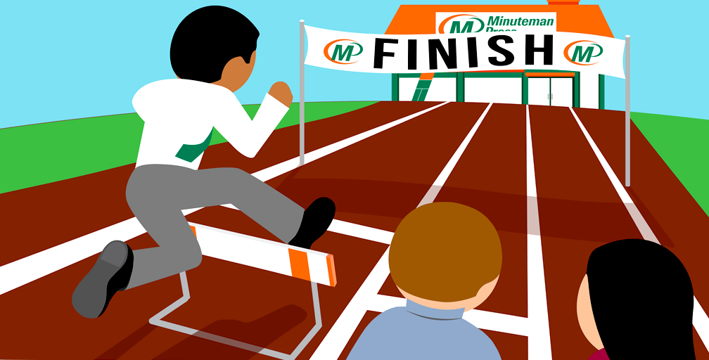 Get on the right track to business ownership - learn more by calling Minuteman Press at 1-800-645-3006. http://www.minutemanpressfranchise.com