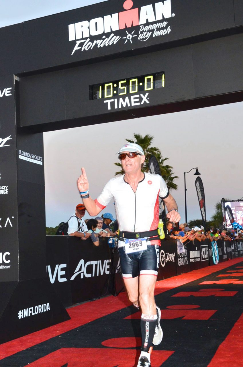 Minuteman Press franchisee Kevin Berg at the Florida Ironman Finish Line in 2017. http://www.minutemanpressfranchise.com