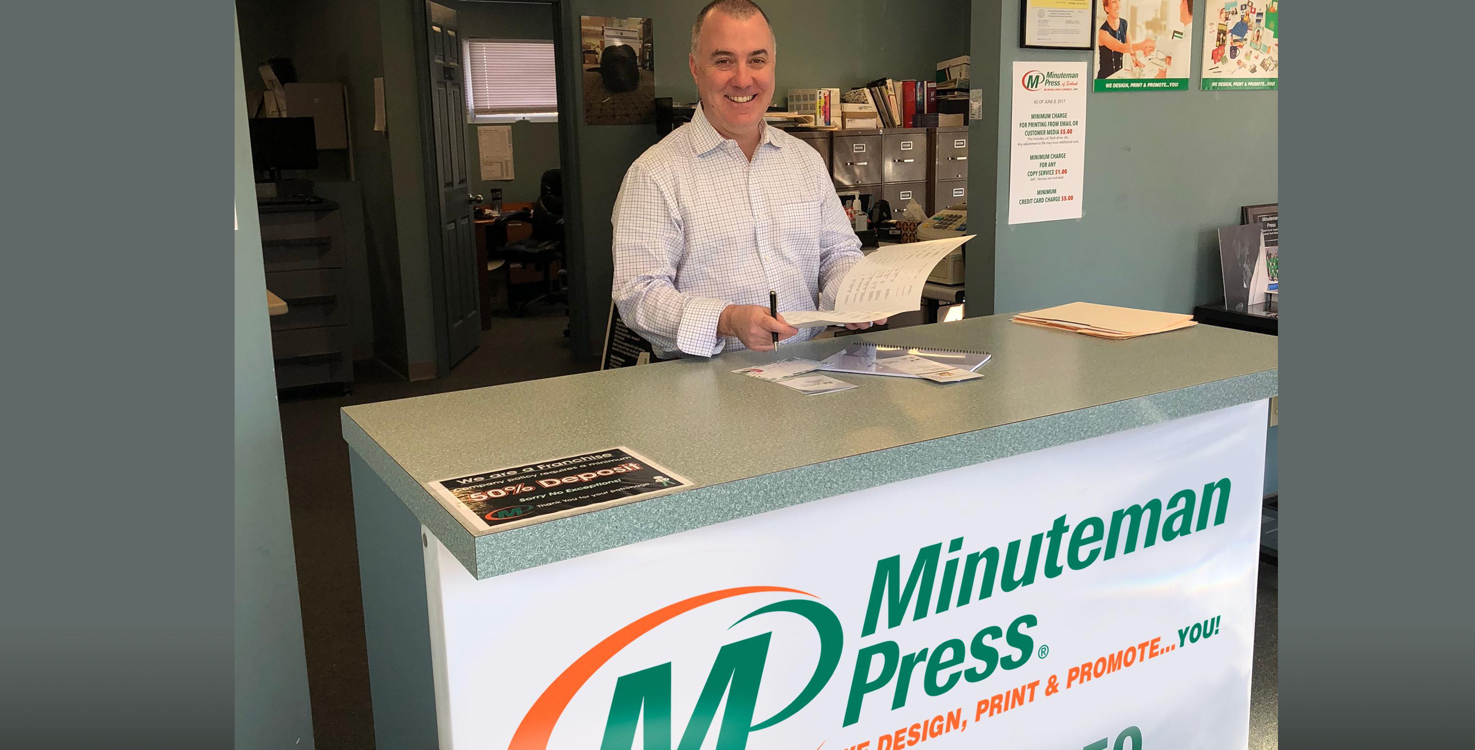Marc Frechette, owner, Minuteman Press franchise, Seekonk, MA. http://www.minutemanpressfranchise