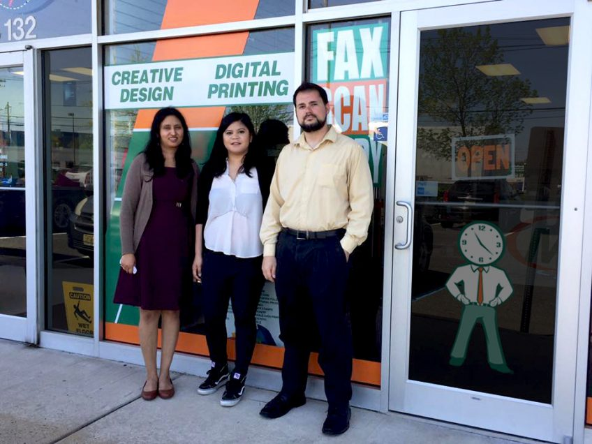 Meet the team of Minuteman Press, Edison, NJ - pictured from left to right: Suchitra Kamath, Owner; Kathleen Premian, Customer Service; and Michael Siecinski, Print and Production. http://www.minutemanpressfranchise.com