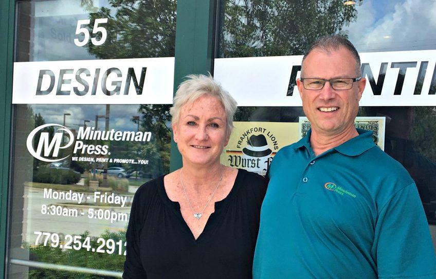 Lynne and John Regas, Minuteman Press franchise owners, Frankfort, Illinois. http://www.minutemanpressfranchise.com