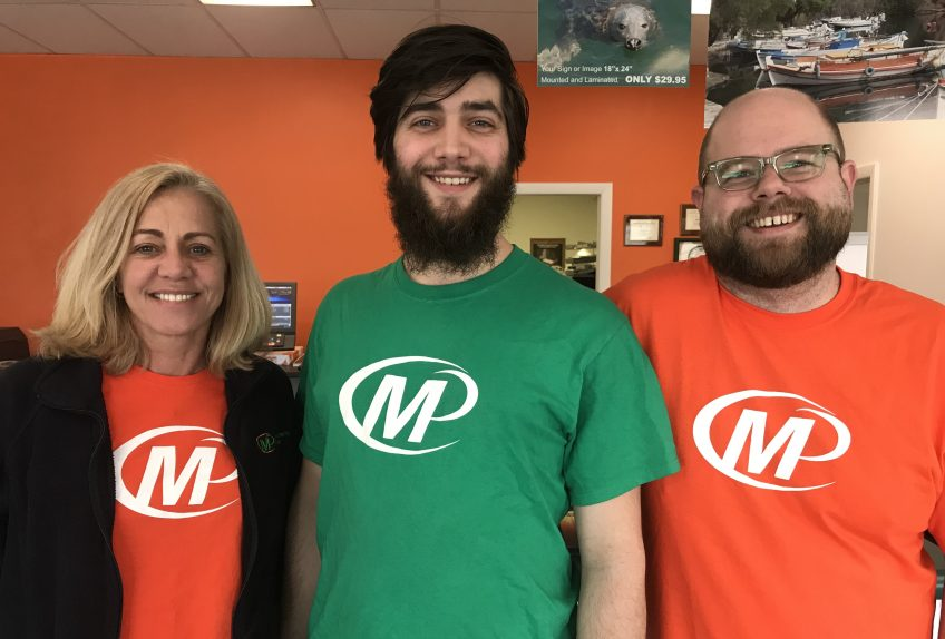 Meet the Team of Minuteman Press, Middletown, RI - L-R: Helen Andromalos, Owner; Taylor Vogl, Production; and Ben Kortright, Design. http://www.minutemanpressfranchise.com