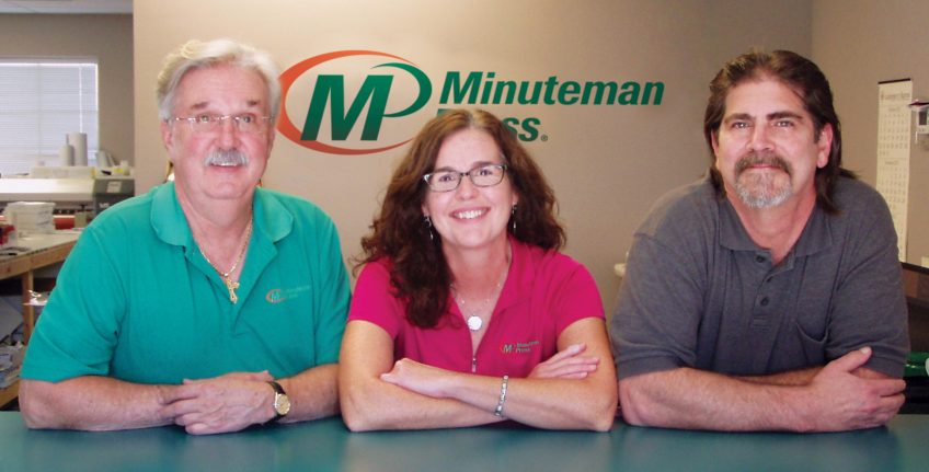 "Meet the team of Minuteman Press in Glen Allen, Virginia - L-R: Robert ""Max"" Maxwell, Tracy Cobb, and Richard ""Rich"" Carwile. http://www.minutemanpressfranchise.com"