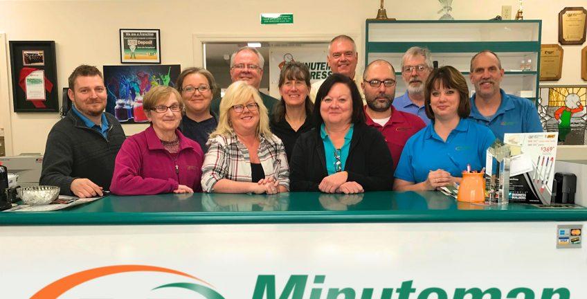 Minuteman Press printing franchise team, Lebanon, Ohio. http://www.minutemanpressfranchise.com