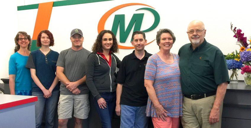 Meet the team of Minuteman Press, Olympia, WA - L-R: Elizabeth, Brenna, Shane, Chloe, Kevin, Clo, and Jim. http://www.minutemanpressfranchise.com