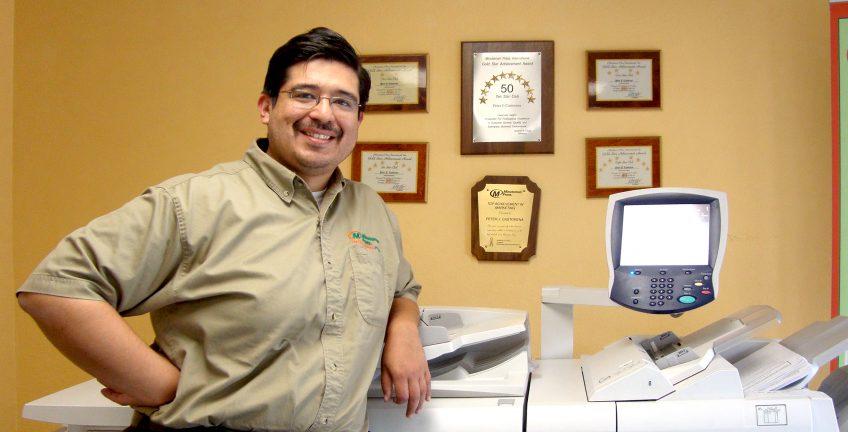 Peter Castorena, Minuteman Press printing franchise owner, Lancaster California. http://www.minutemanpressfranchise.com
