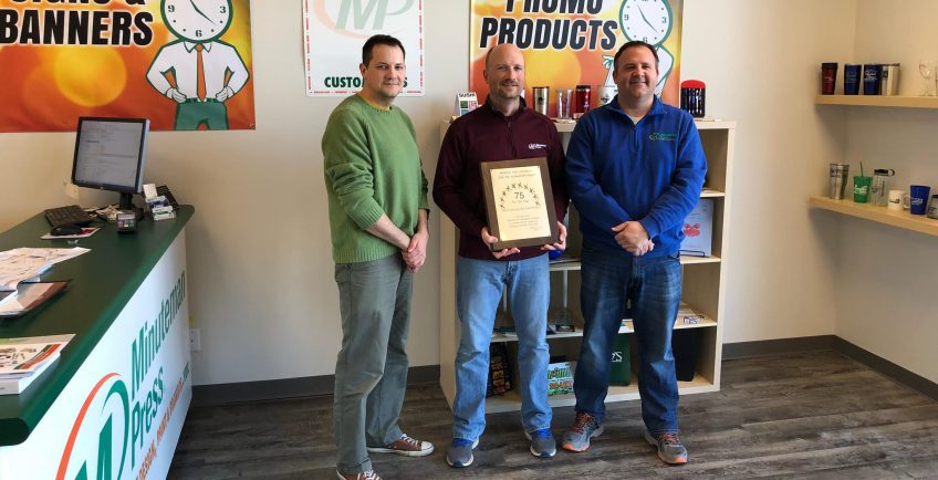 Meet the Team of Minuteman Press, Richmond, Kentucky - L-R: Graham Allen, Pete Cummings, and Chuck Bentley. http://www.minutemanpressfranchise.com