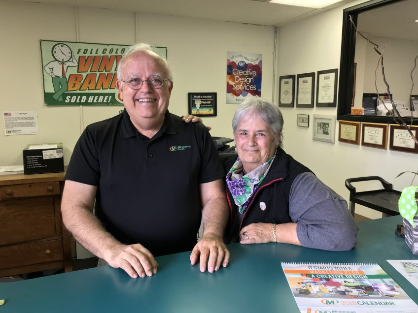 Roger Casas and Elizabeth Blanco, owners, Minuteman Press, Carson, CA. http://www.minutemanpressfranchise.com