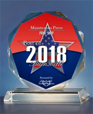 Minuteman Press Franchise Receives 2018 Best of Burnsville, Minnesota Printing Business Award http://www.minutemanpressfranchise.com