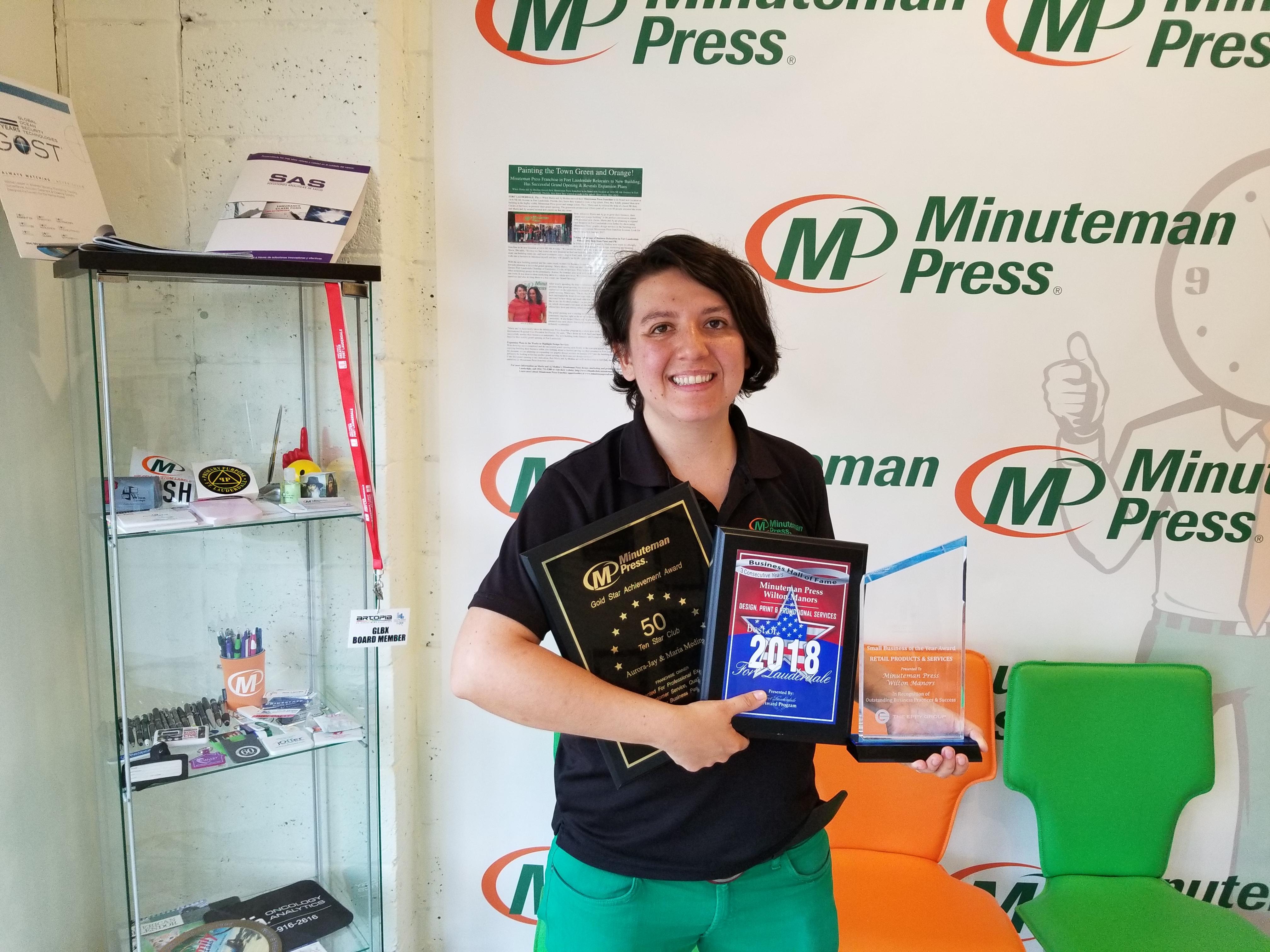 Maria Medina, owner, Minuteman Press franchise, Fort Lauderdale, Florida. http://www.minutemanpressfranchise.com