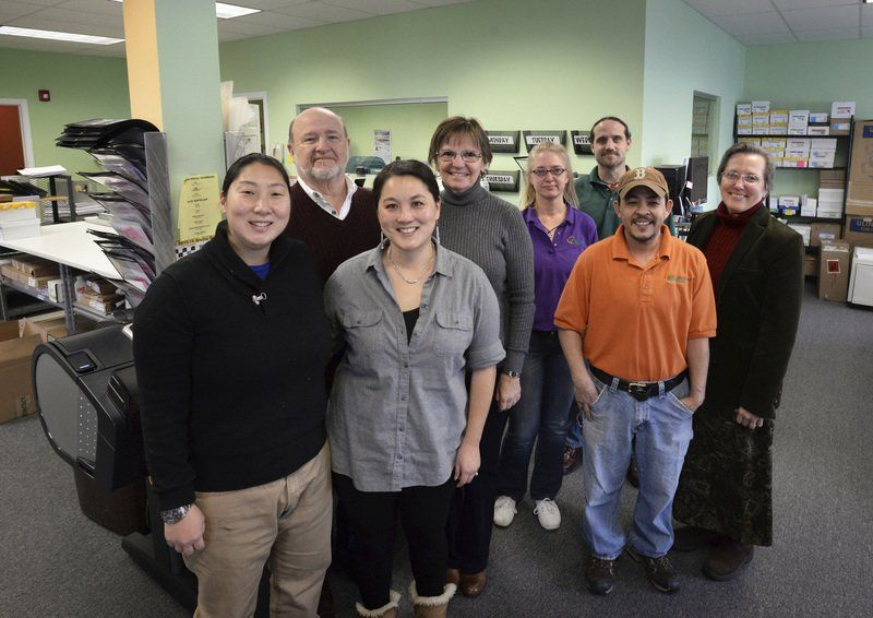 Minuteman Press staff in Newburyport. Read the full original story at the Newburyport Daily News: http://bit.ly/1TFcZoO