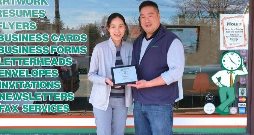 Michele and Conway Wong, owners, Minuteman Press franchise, Ho-Ho-Kus, New Jersey. https://minutemanpressfranchise.com
