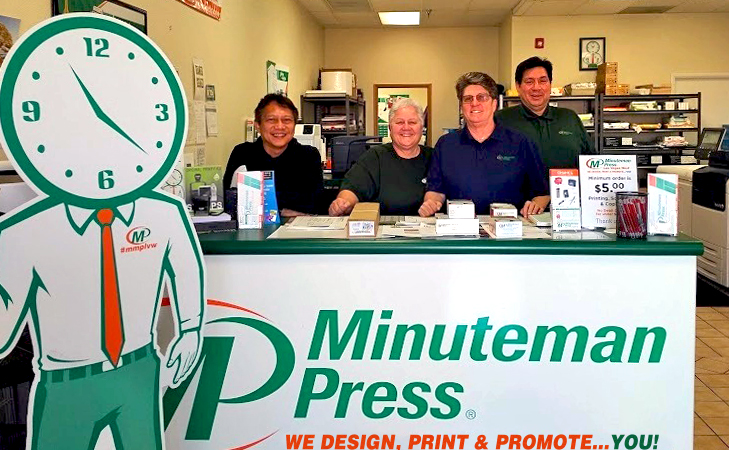 Meet the Team of Minuteman Press, Las Vegas, NV - L-R: Ton, Dawn, Lori, and Vincent. https://minutemanpressfranchise.com