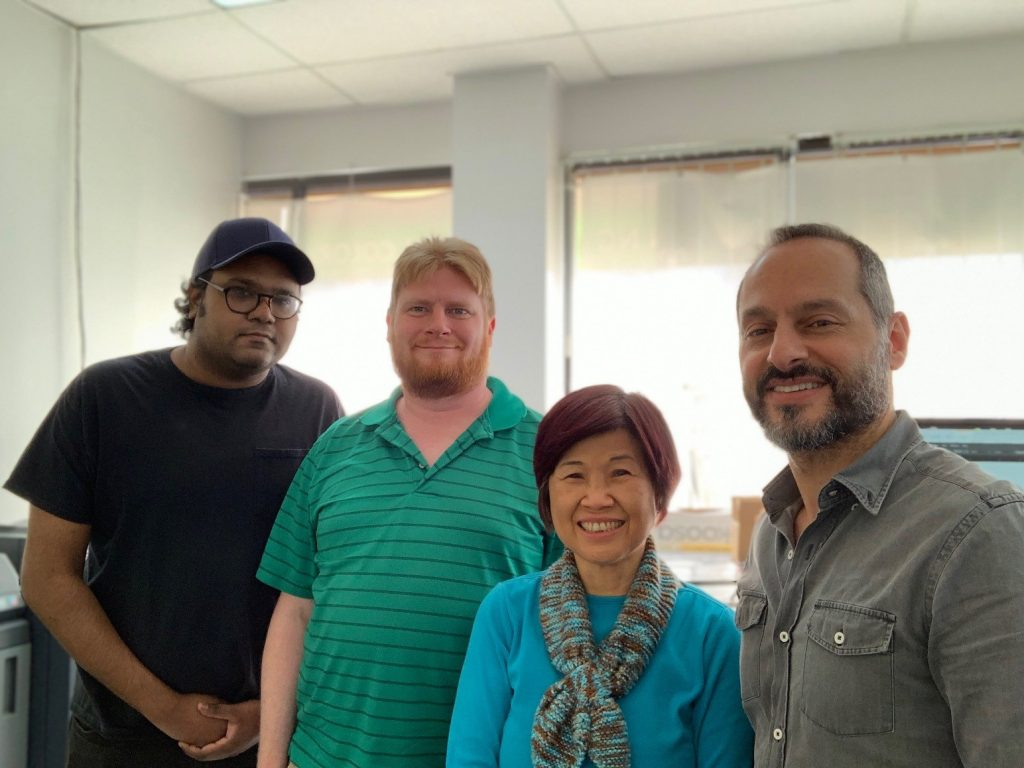 Meet The Team of Minuteman Press, Midtown Houston, Texas – L-R: Steven, Eric, Elize, and George Ayoub, owner. https://minutemanpressfranchise.com