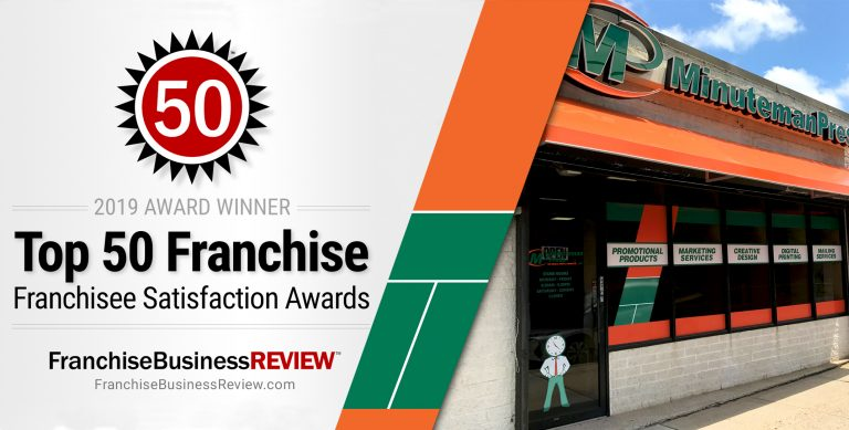 Minuteman Press International Named a 2019 Top Franchise by Franchise Business Review Thanks to Direct Feedback from Franchisees https://minutemanpressfranchise.com