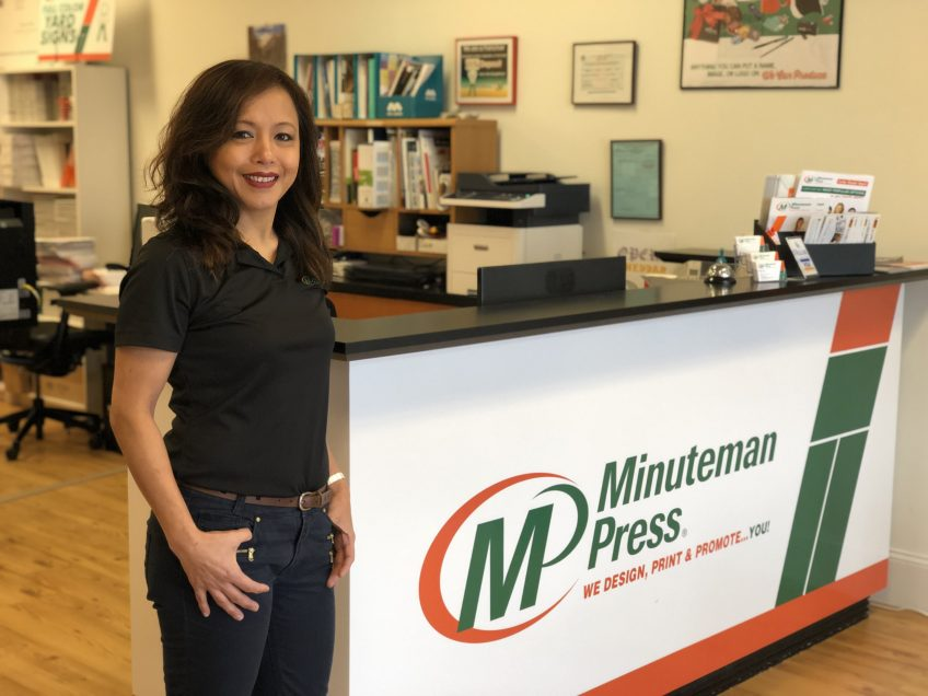Judith Hoefer, owner, Minuteman Press printing franchise, Marietta, Georgia. https://minutemanpressfranchise.com